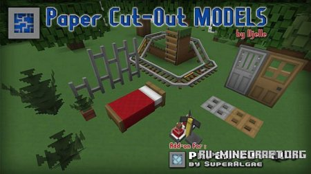 Скачать Paper Cut-Out 3D Models [16x] для Minecraft 1.9