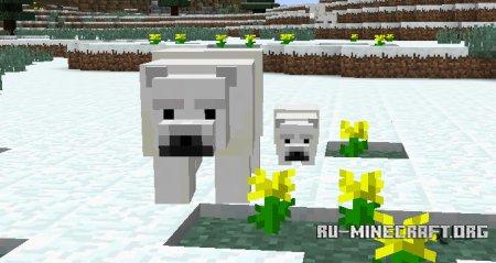 Белые медведи в Minecraft 1.10