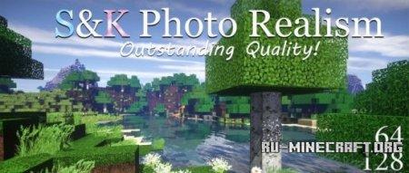 Скачать S&K Photo Realism [64x] для Minecraft 1.8.8