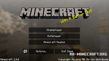 Скачать Better GUI [16x] для Minecraft 1.9