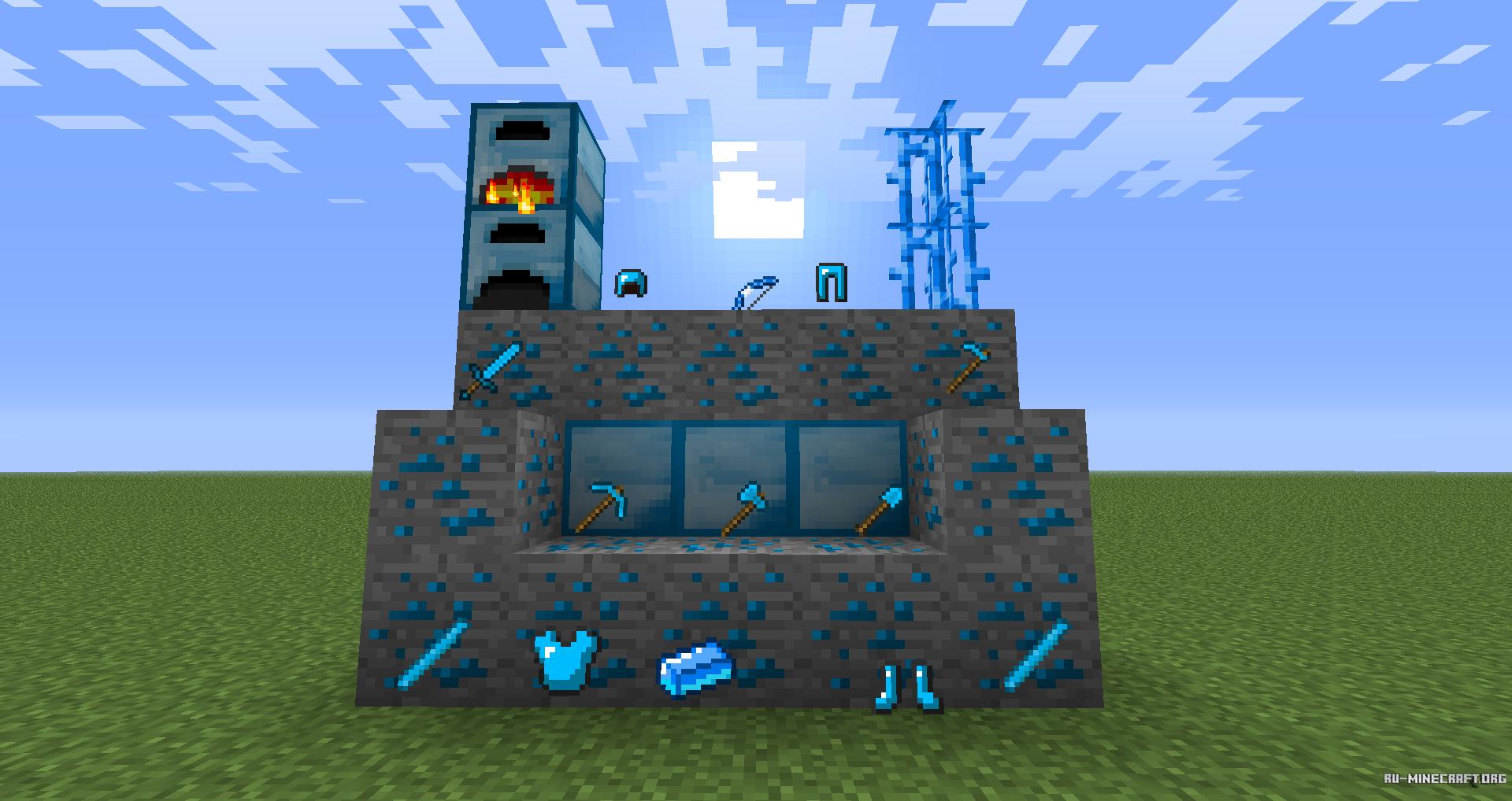 Мод emeraldcraft руда, инструменты, оружие! [0. 7. 6].