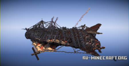 Скачать Steampunk Battle Ship для Minecraft