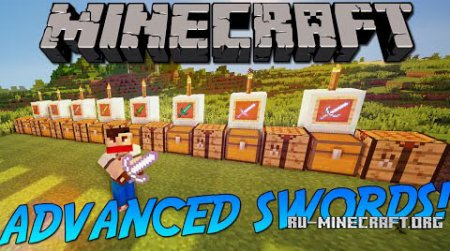 Скачать Advanced Swords для Minecraft 1.9.4