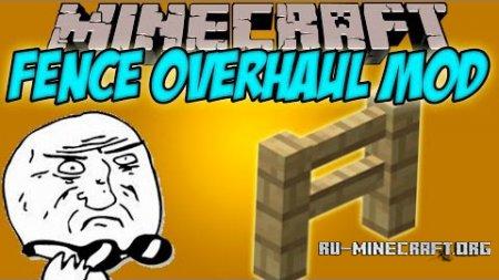 Скачать Fence Overhaul для Minecraft 1.8.9