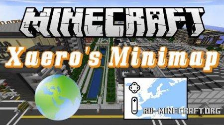 Скачать Xaero's Minimap для Minecraft 1.10