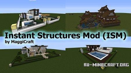Скачать Instant Structures для Minecraft 1.10