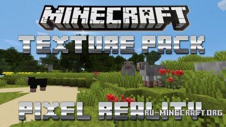 Скачать Pixel Reality [16×16] для Minecraft PE 0.15