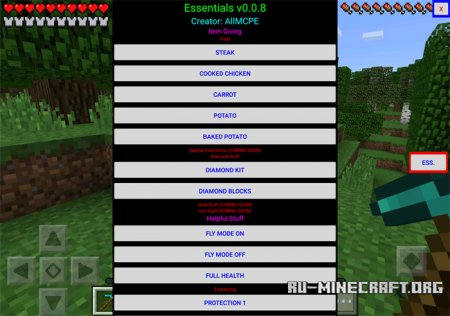 Скачать Survival Essentials для Minecraft PE 0.15