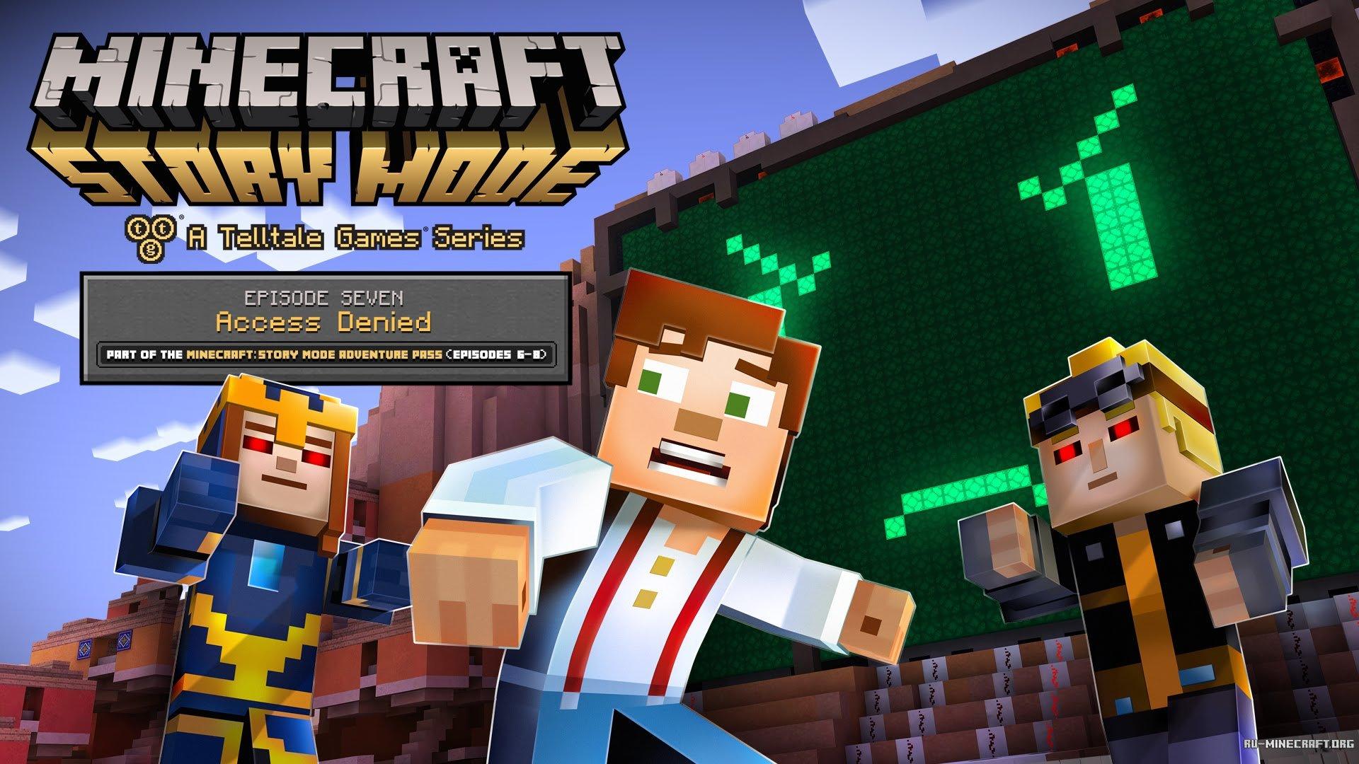 Скачать мод на майнкрафт minecraft story mode