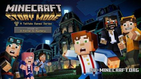 Лого Minecraft: Story Mode Episode 6 Портал к неизвестному