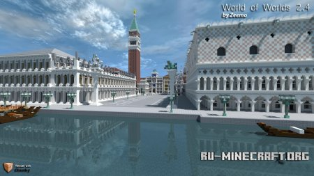 Скачать World of Worlds для Mineacraft