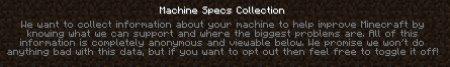 Старый текст в сборе информации Minecraft 1.10