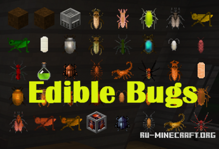 ������� Edible Bugs ��� Minecraft 1.10.2