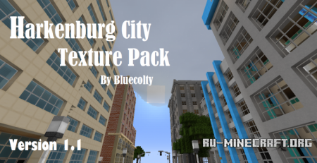 Скачать Harkenburg City [16x] для Minecraft 1.10