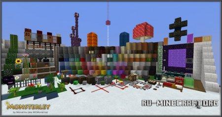 Скачать Monsterley [32x] для Minecraft 1.10