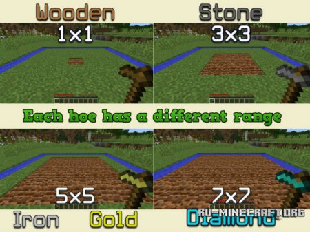 ������� Improved Hoes ��� Minecraft 1.10.2