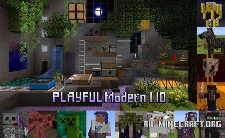 Скачать PLAYFUL [32x] для Minecraft 1.10
