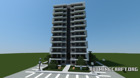 Скачать Modern Apartment Building для Minecraft
