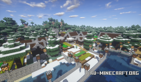 Скачать Minecraft Winter Village для Minecraft