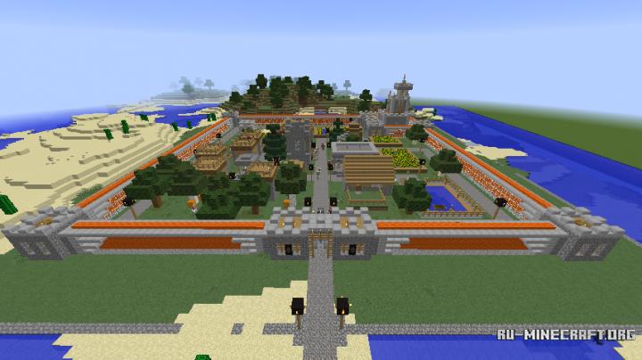 Майнкрафт карта деревня с мебелью