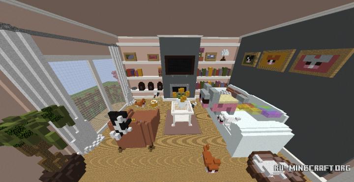 Скачать карту большая комната для minecraft pe.