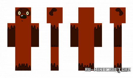 Скачать HD скин Винни-пух для Minecraft