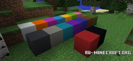 Блок бетона скриншот 1 в Minecraft 1.12