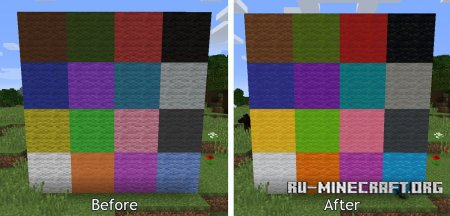 Шерсть в Minecraft 1.12