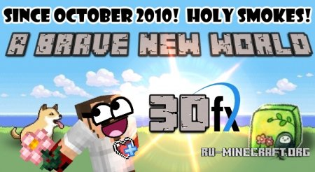 Скачать Brave New World [64x] для Minecraft 1.11