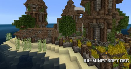 Скачать Beyond the Lands [16x16] для Minecraft PE 1.0.0