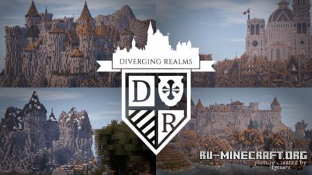 Скачать LOROTH – Diverging Realms [32x] для Minecraft 1.11