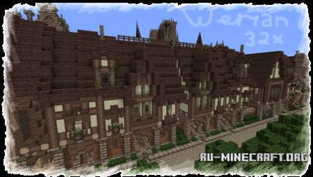Скачать Filmjolk's medieval, Werian [64x] для Minecraft 1.8