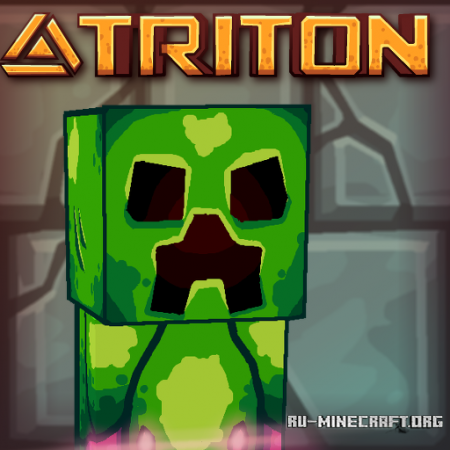 Скачать Triton - HD Cartoon [128x] для Minecraft 1.10