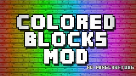 Скачать Flat Colored Blocks для Minecraft 1.10