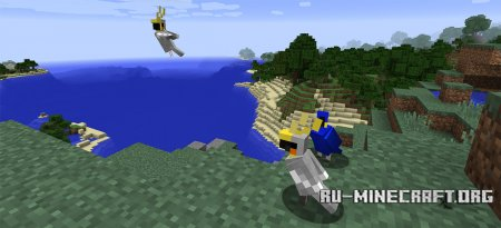 Попугаи скриншот 1 в Minecraft 1.12