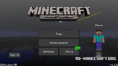 Скачать Night Mode GUI для Minecraft PE 1.1