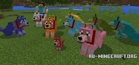 Скачать Colorful Mutant Wolves для Minecraft PE 1.1