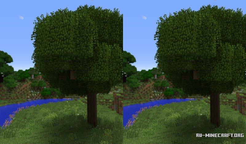 текстуры с круглым деревом для майнкрафт #6