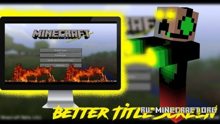 Скачать Better Title Screen для Minecraft 1.12.1