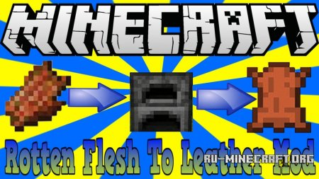 Скачать Just Another Rotten Flesh to Leather для Minecraft 1.12