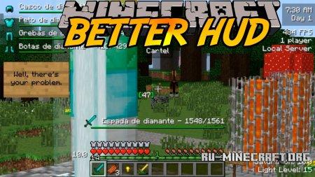 Скачать Better HUD для Minecraft 1.12