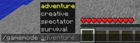 Подсказки в командах Minecraft 1.13
