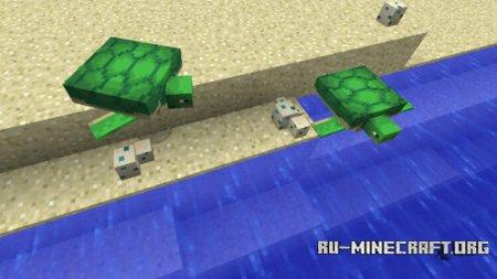 Черепахи и яйца в Minecraft 1.13