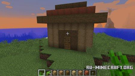 Дом из новой древесины Minecraft 1.13