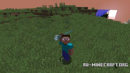 Игрок с трезубцем в Minecraft 1.13