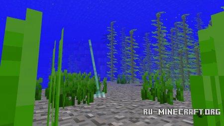 Трезубец в воде Minecraft 1.13