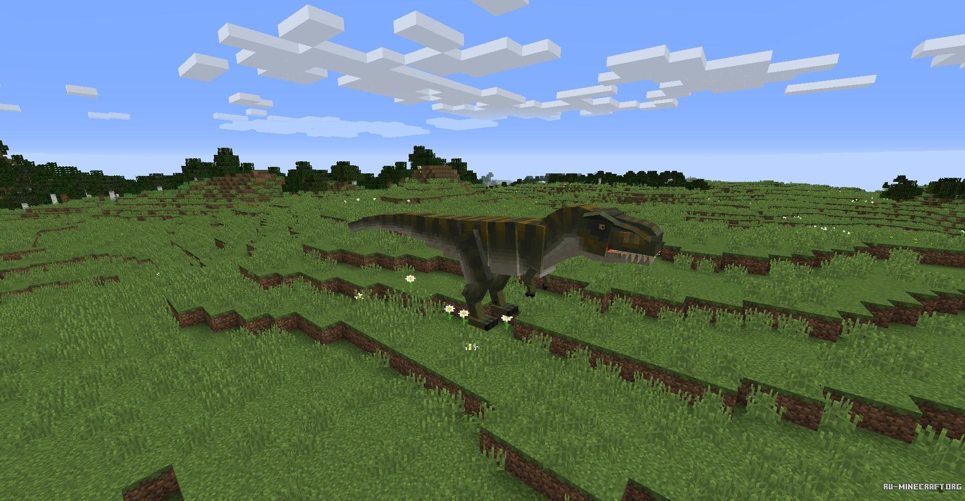 мод на динозавров в майнкрафт 1.7.10 #3