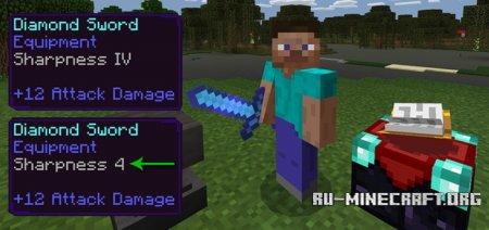 Скачать Better Enchantment Names для Minecraft PE 1.2