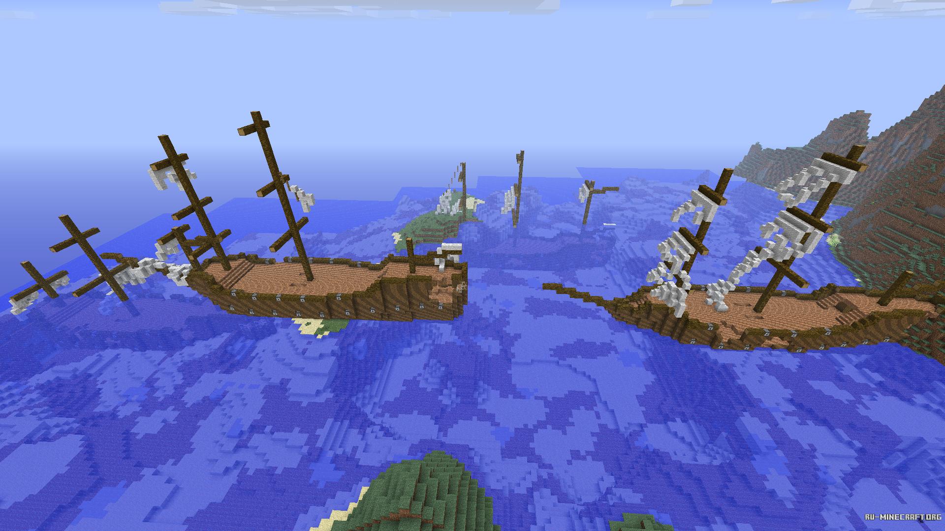 мод для майнкрафт на корабли и замки #1