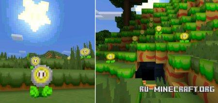 Скачать New Super MarioCraft [16x16] для Minecraft PE 1.2